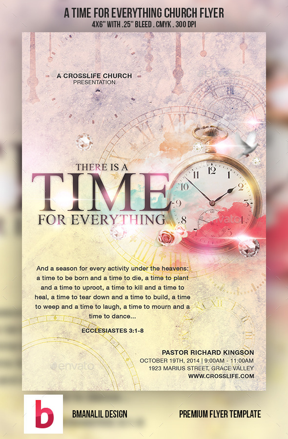GraphicRiver A Time for Everything Church Flyer 8976761