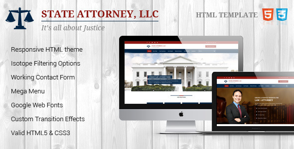 ThemeForest Attorney & Law Lawyers HTML Theme 8976777