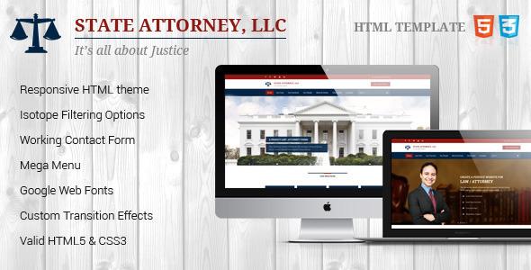 ThemeForest Attorney & Law Lawyers HTML Theme 8976777