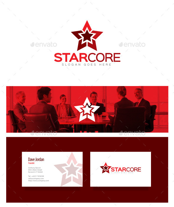GraphicRiver Star Core Star Logo 8976779
