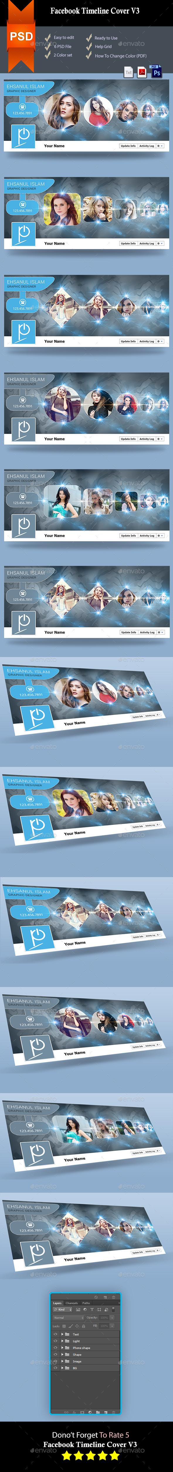 GraphicRiver Facebook Timeline Cover V3 8976833