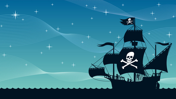 pirate ship sail template - pirate ship sailing 2 stock footage videohive