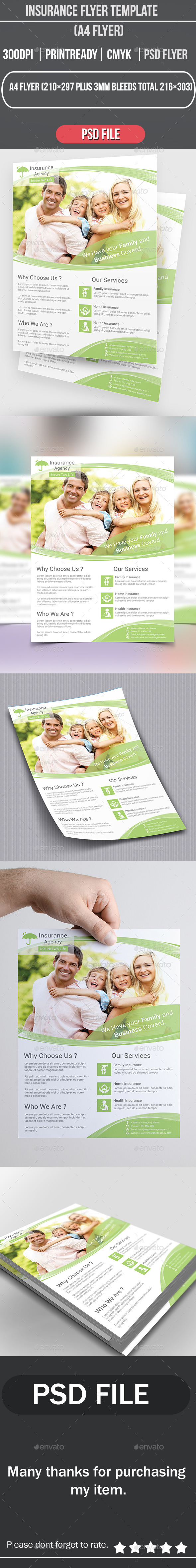 GraphicRiver Insurance Flyer Template 8977016