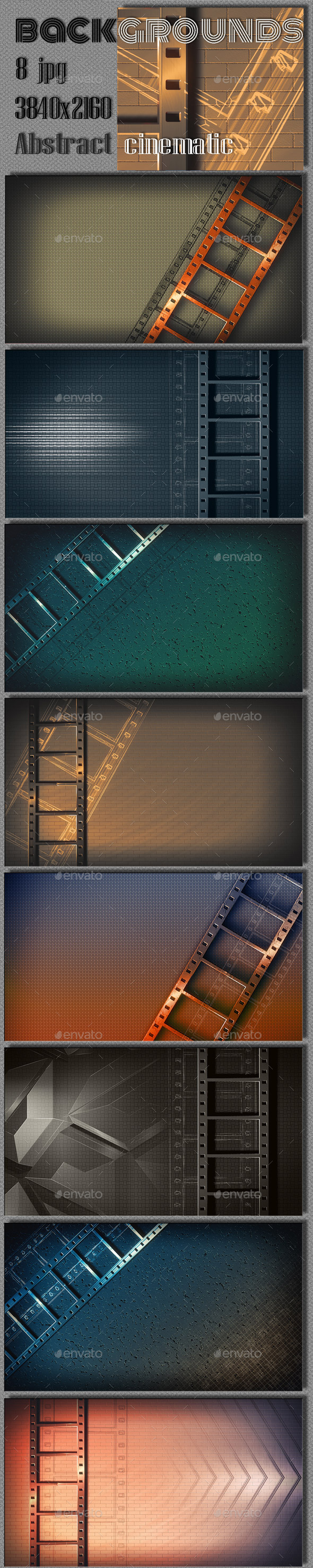 GraphicRiver Abstract Film Steel Background 8977106