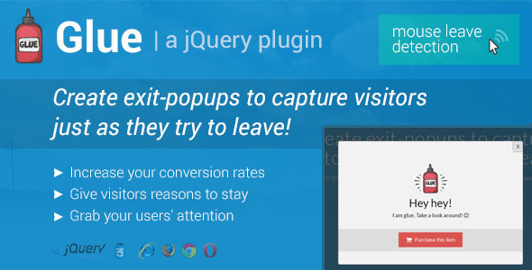 CodeCanyon Glue Exit-Popups to Capture Visitors 8977115
