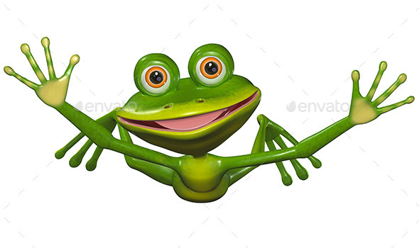 GraphicRiver Flying Frog 8977259