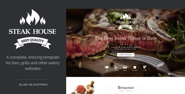 ThemeForest Steak House Food WordPress Theme 8977277