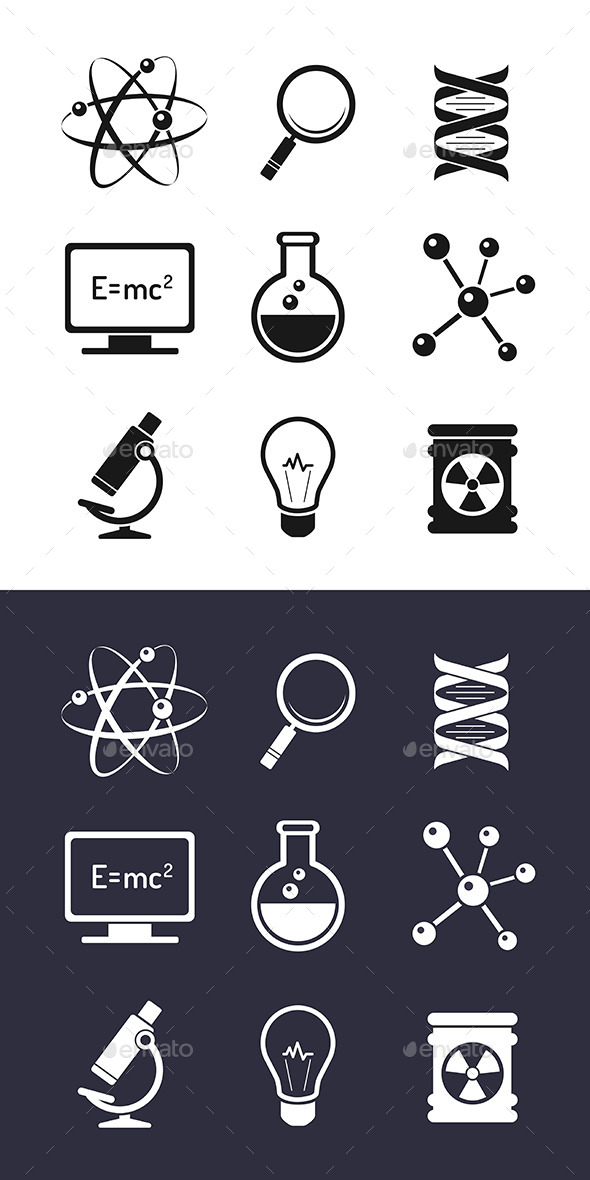 GraphicRiver Chemistry And Science Icons 8977296