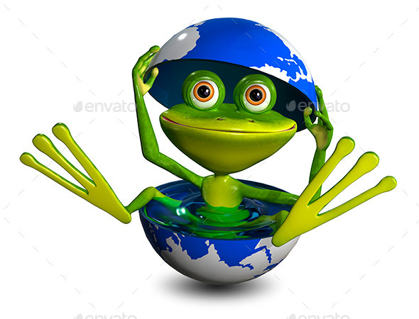GraphicRiver Frog in a Globe 8977347