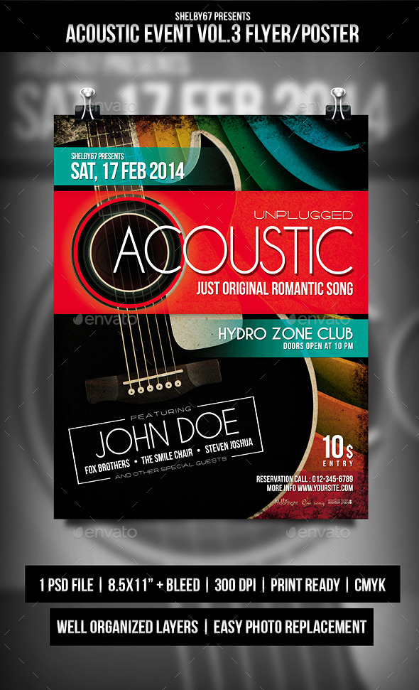 GraphicRiver Acoustic Event Flyer Poster Vol.3 8977401