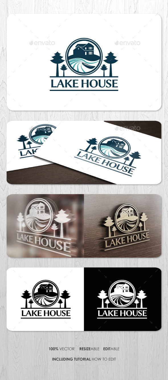 GraphicRiver Lake House Logo 8977718
