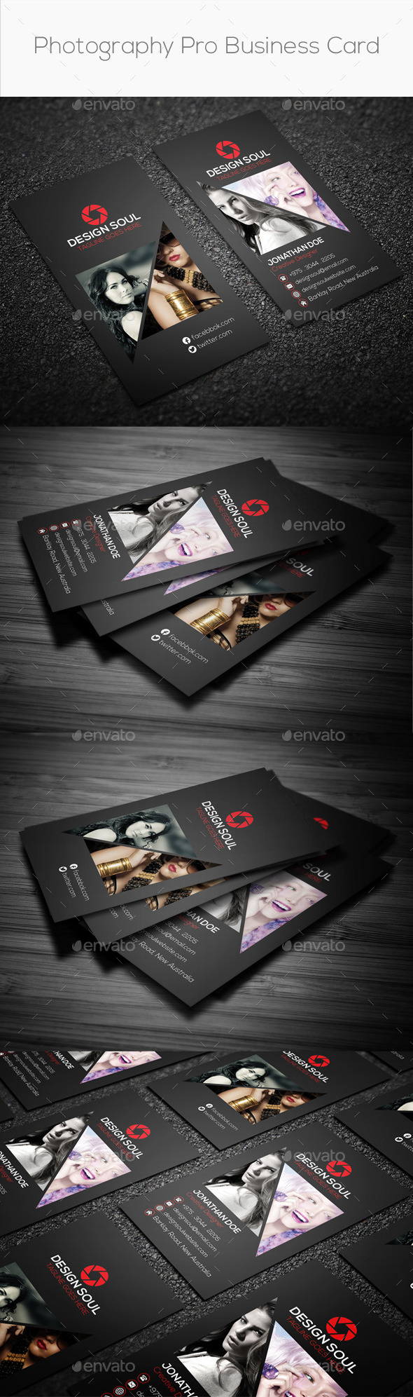 GraphicRiver Photography Pro Business Card 8977762