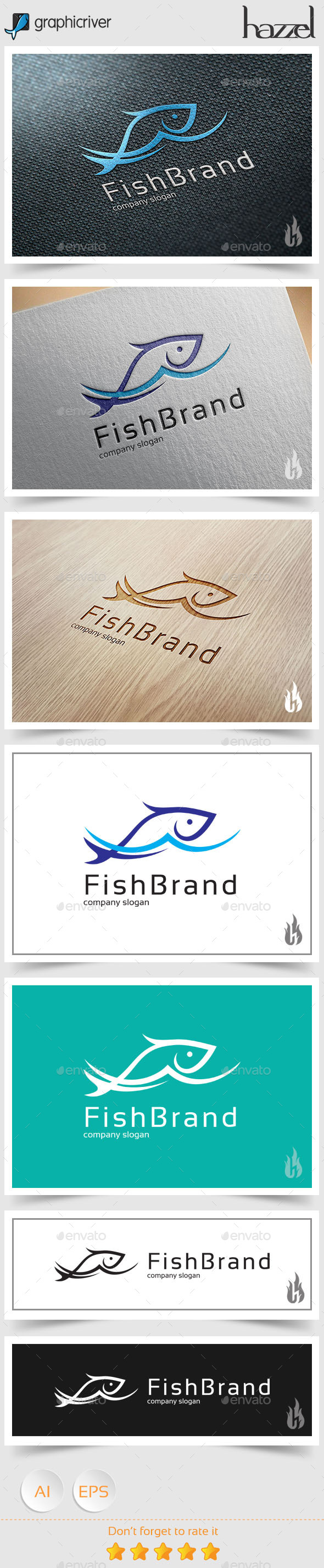 GraphicRiver Fish Brand Logo 8977875