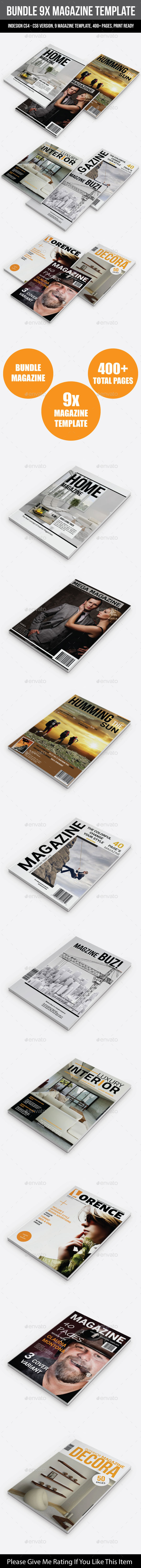 GraphicRiver Bundle 9X Magazine Template 8977892