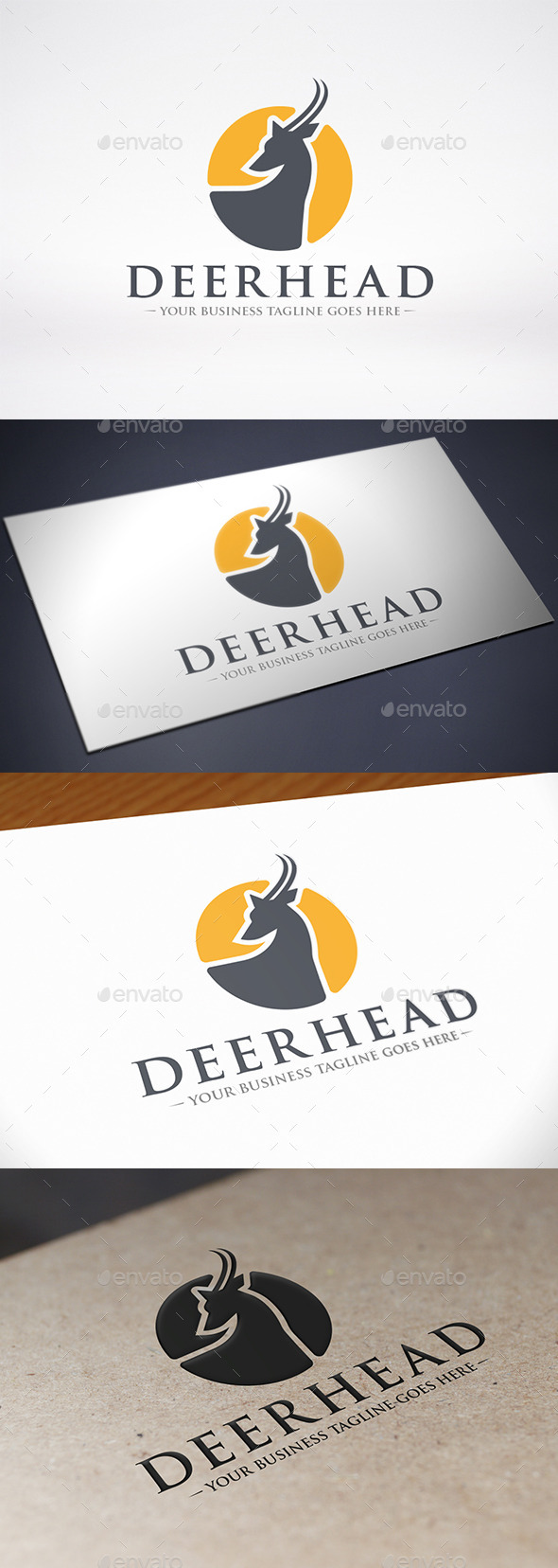 GraphicRiver Deer Head Logo Template 8978002