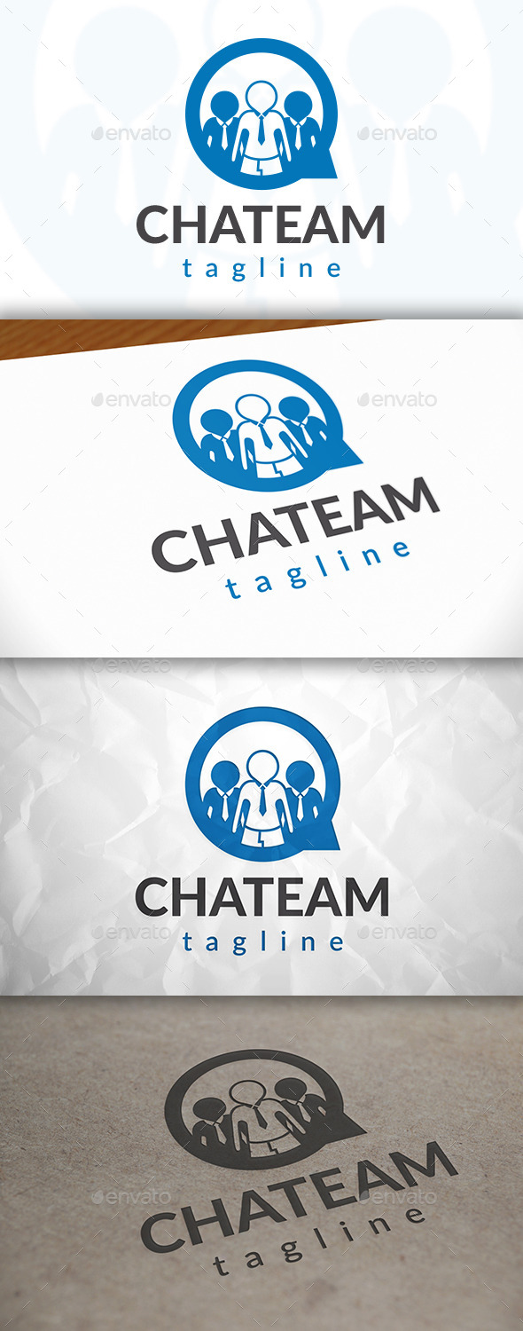 GraphicRiver Team Chat Logo 8978283