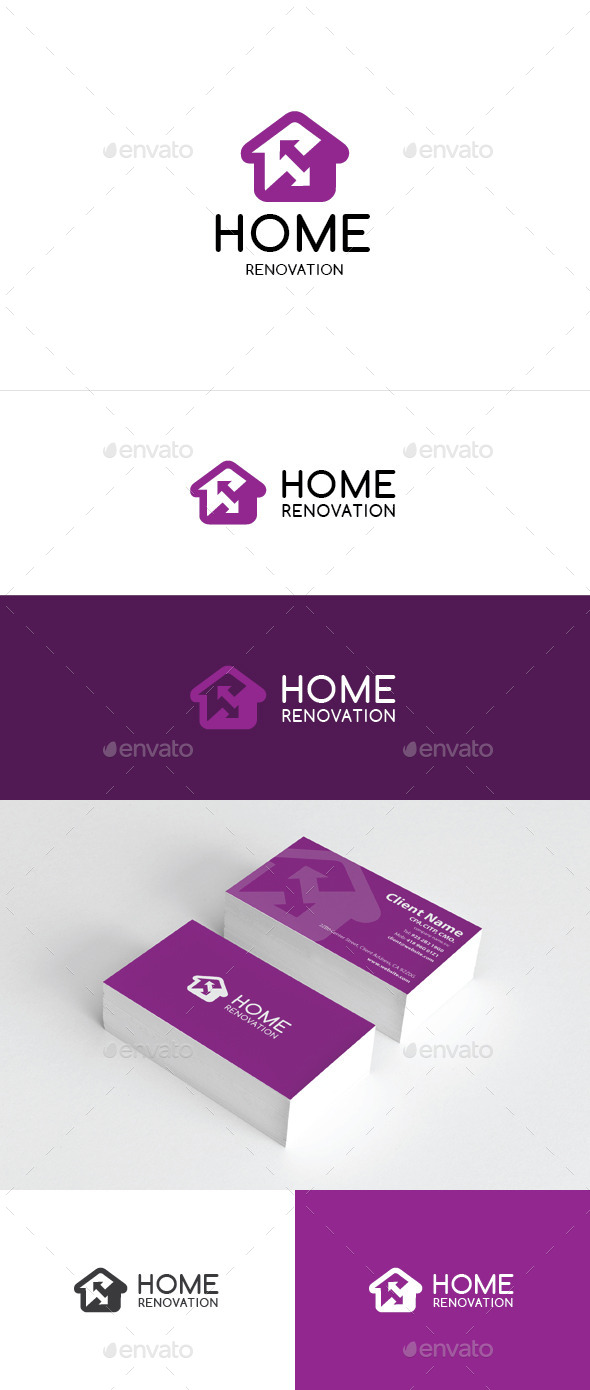 GraphicRiver Home Renovation Logo Template 8978335
