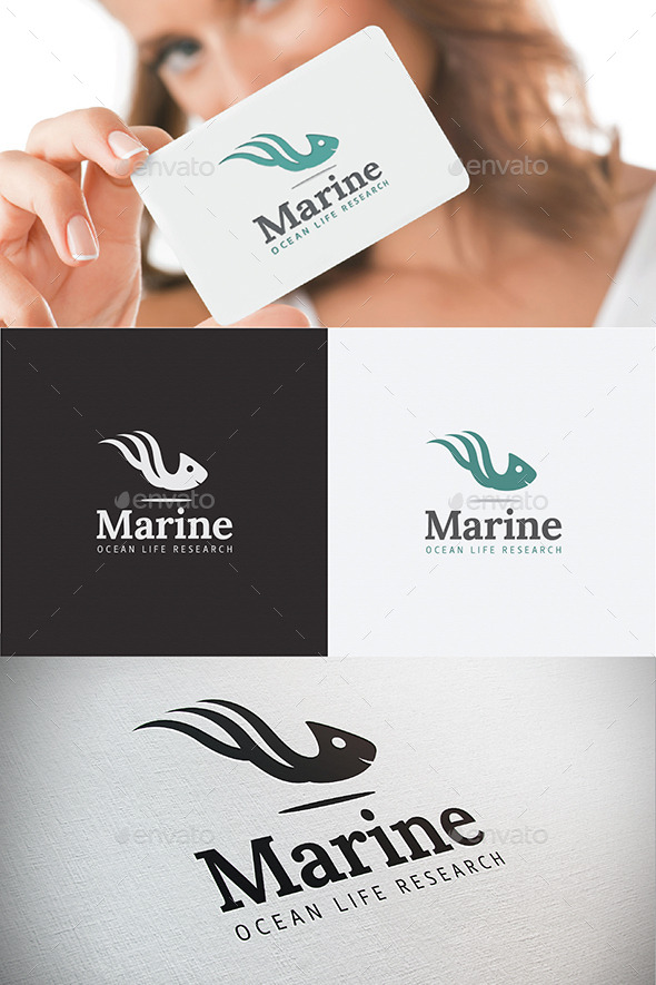 GraphicRiver Marine Life Ocean Research Sea Logo 8978432