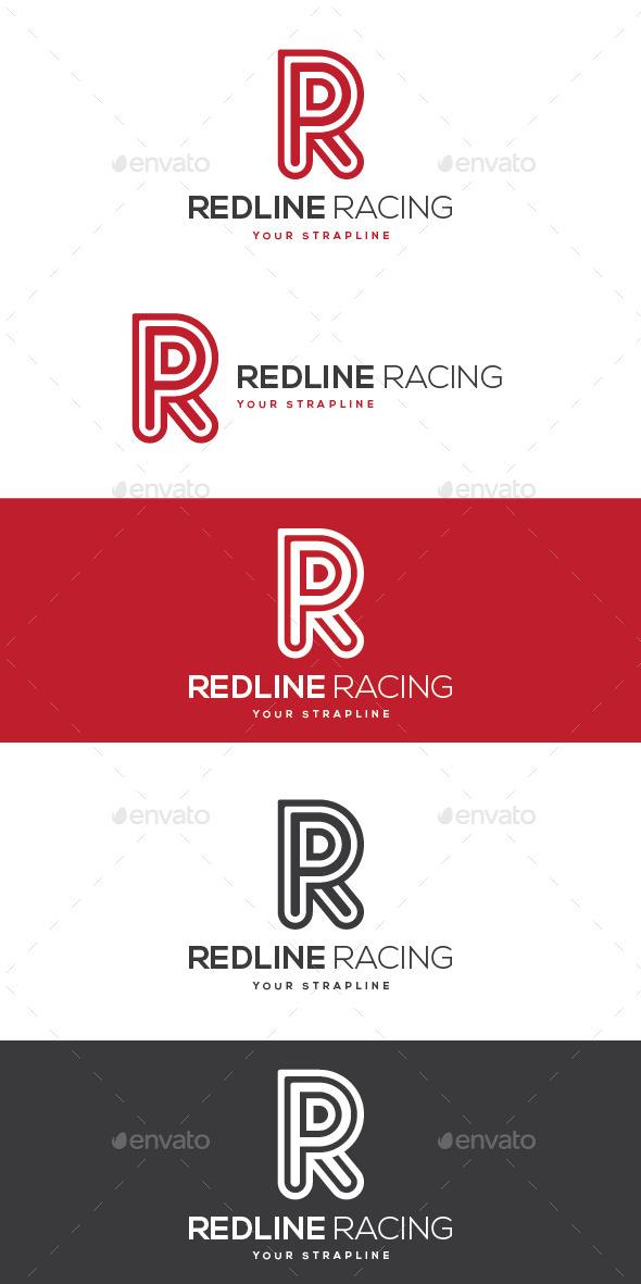 GraphicRiver Redline Racing Letter R Logo 8978673