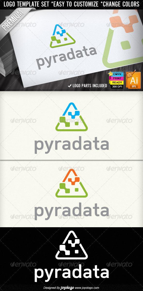 Pyramid Data Abstract Digital Computers Logos