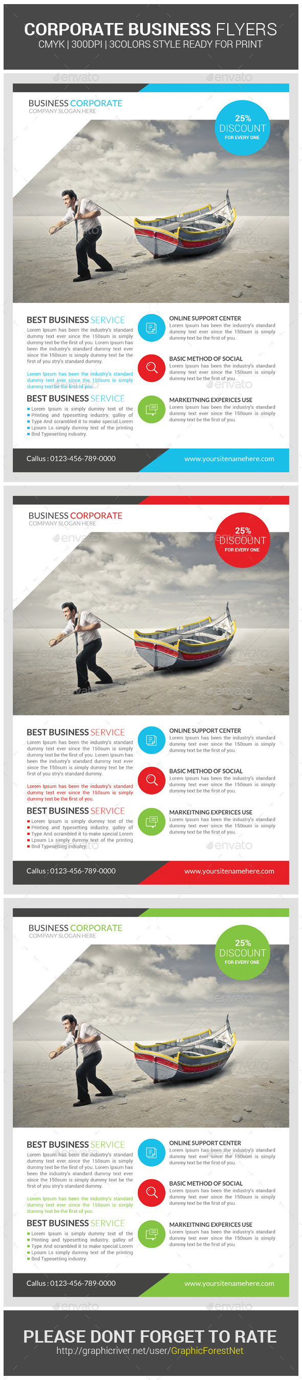 GraphicRiver Business Corporate Agency Flyer Psd Template 8978981