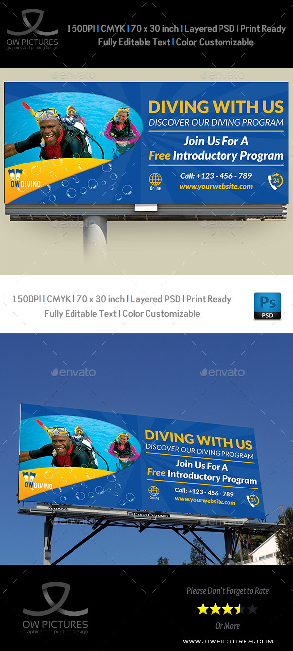 GraphicRiver Diving Billboard Template Vol2 8979051