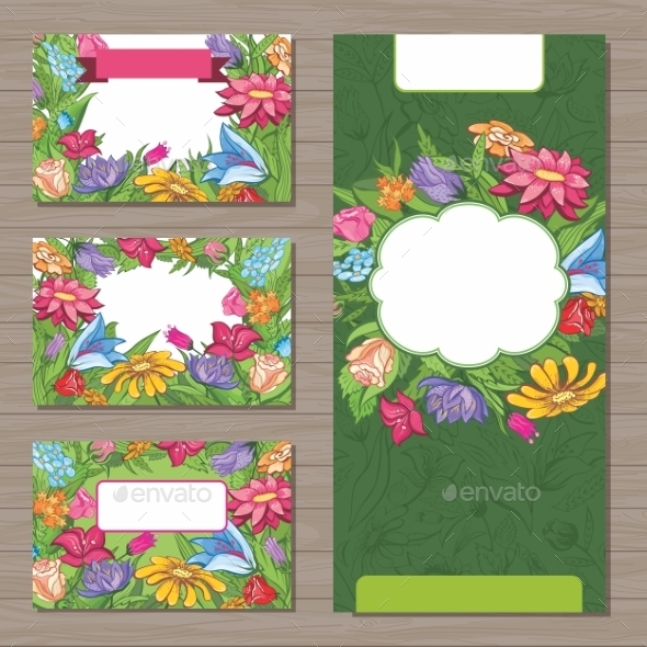 GraphicRiver Flower Background and Templates 8979054