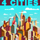 Stylish Colorful City Compositions - GraphicRiver Item for Sale