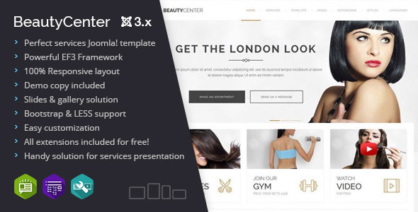Beauty Center multipurpose services template