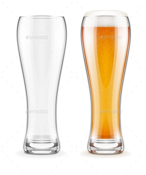 GraphicRiver Empty Transparent Glasses and Full of Beer 8979342
