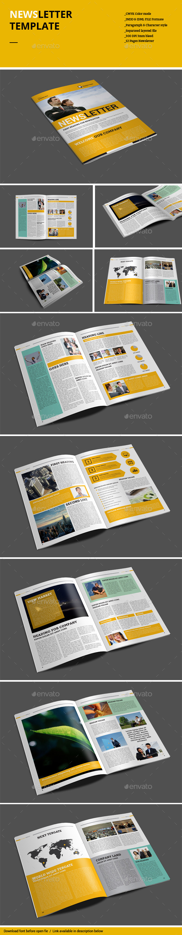 GraphicRiver Newsletter Template 8960226