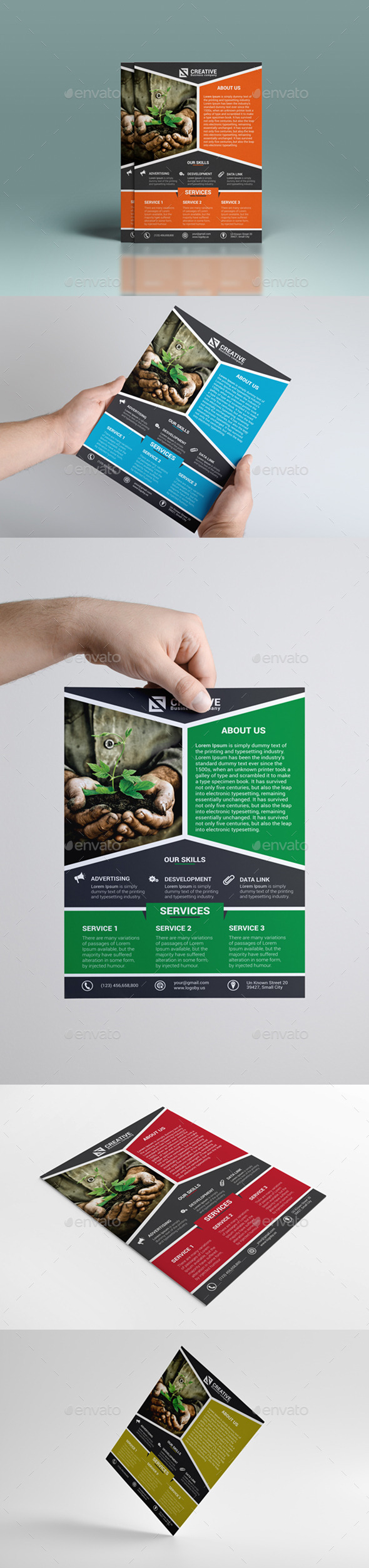 GraphicRiver Corporate Green Flyer 8979446