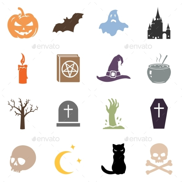 GraphicRiver Vector Set of Halloween Icons 8979449