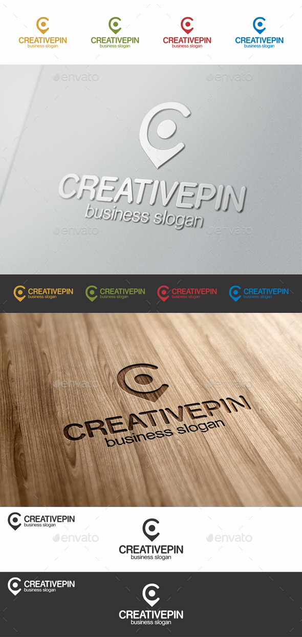 GraphicRiver Creative Pin C Point Letter Logo 8979511