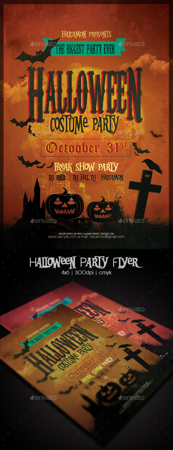 GraphicRiver Halloween Party Flyer Template 8979546