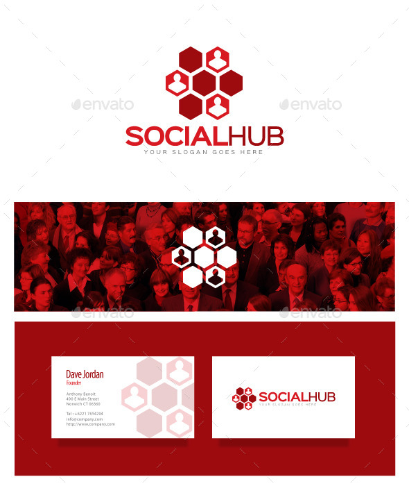 GraphicRiver Social Hub Logo 8976089