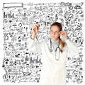 doctor woman writting something - PhotoDune Item for Sale