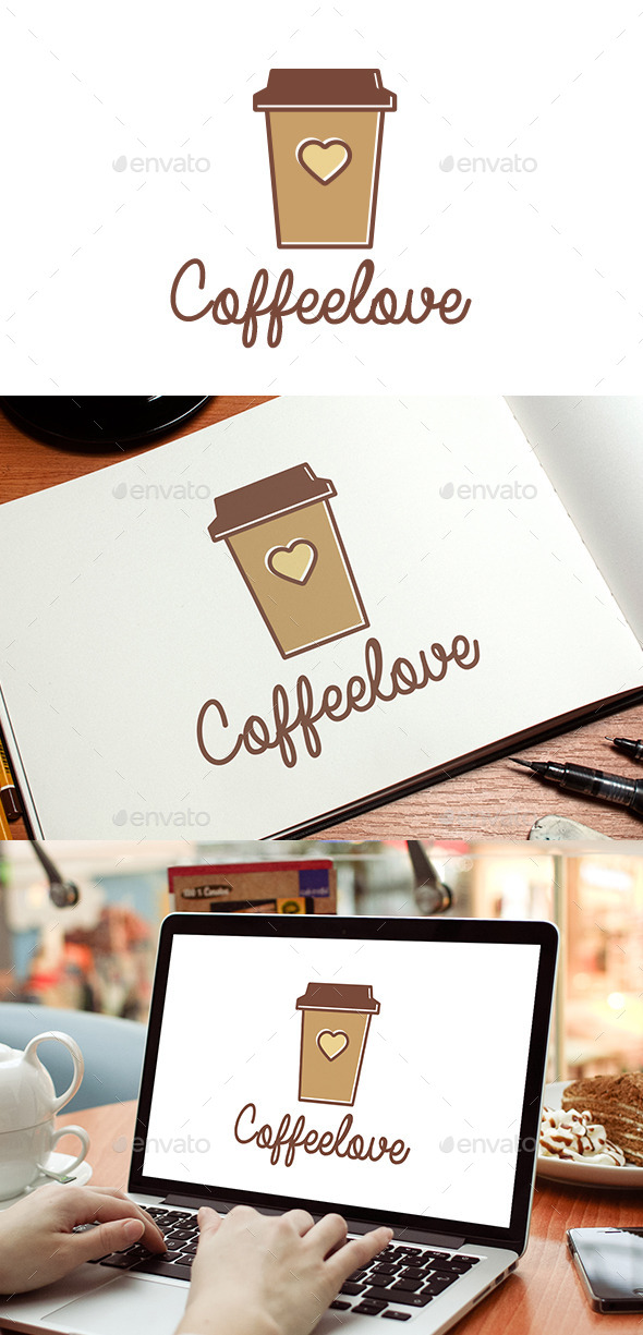 GraphicRiver Coffee Love Logo Template 8980163