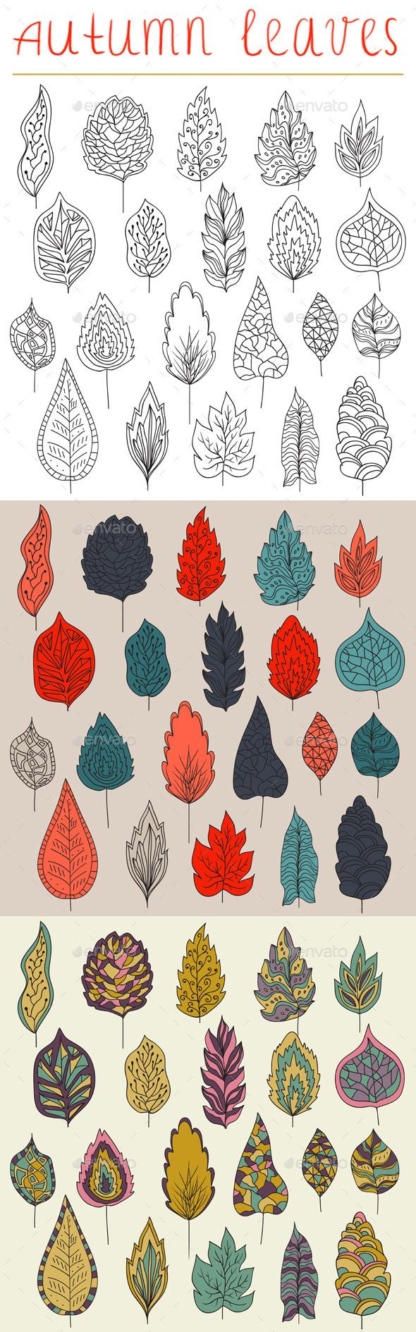 GraphicRiver Autumn Leaves 8980294