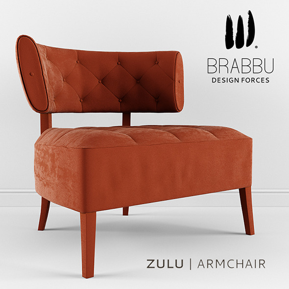 Brabbu - Zulu Armchair - 3DOcean Item for Sale