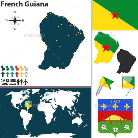GraphicRiver Map of French Guiana 8980446