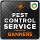 Pest control service banner design set - GraphicRiver Item for Sale