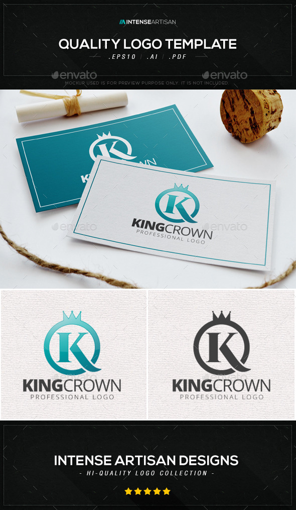 GraphicRiver King Crown Logo Template 8980531