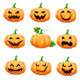 Set Pumpkins for Halloween Isolated on White  - GraphicRiver Item for Sale