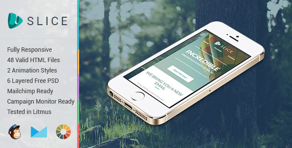 ThemeForest Slice Animation Responsive Email Template 8980572