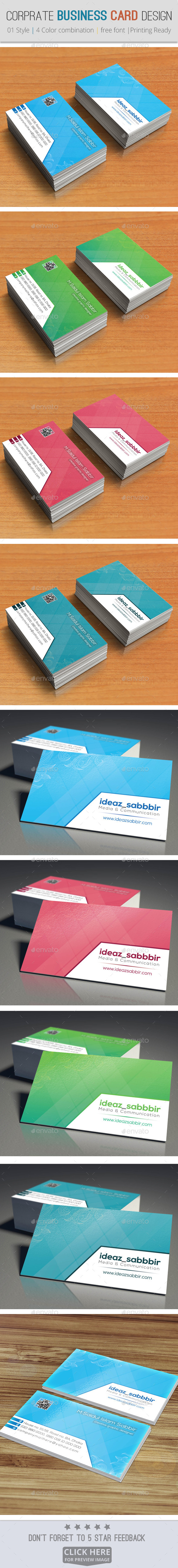 GraphicRiver Corporate & Professional Business Card Design V01 8980576