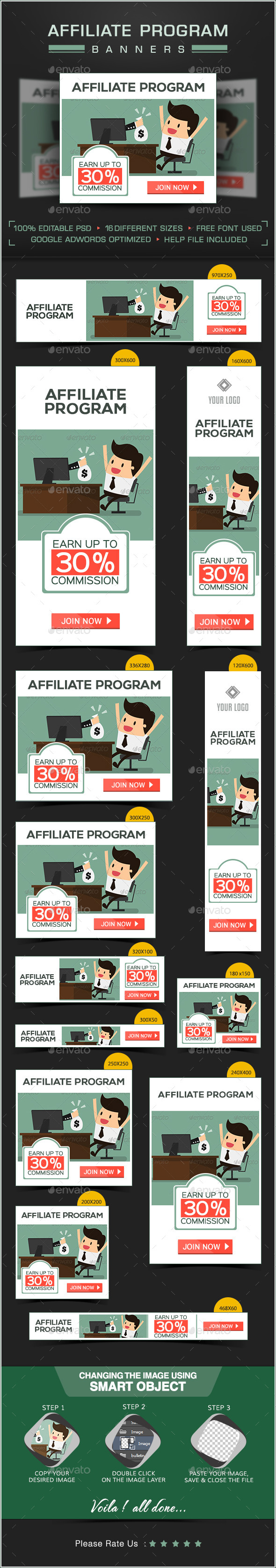 GraphicRiver Web Banner Design for Affiliate Program 8980585