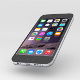iPhone 6 black; low poly, unwrapped, textured - 3DOcean Item for Sale