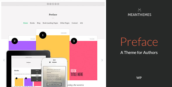 ThemeForest Preface A WordPress Theme for Authors 8980635