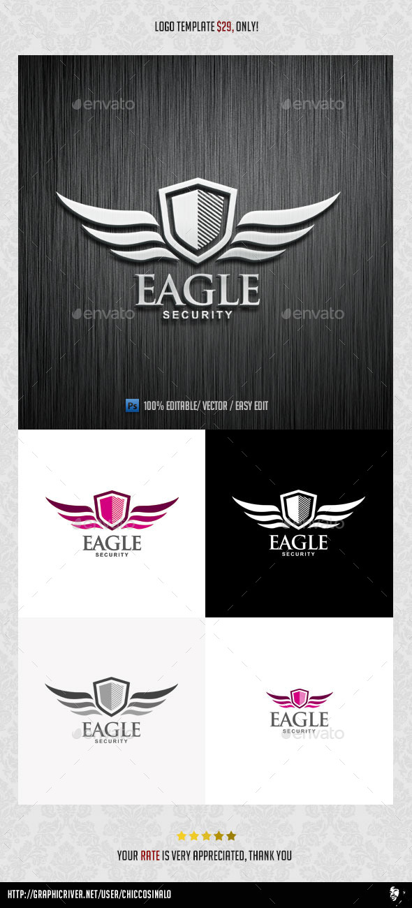 GraphicRiver Eagle Security Logo Template 8980667